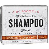 J.R. Liggett's, Традиционный шампунь-мыло, с кокосом и аргановым маслом, 3.5 унций (99 г)