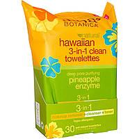 Alba Botanica, Гавайские влажные салфетки для очистки 3-в-1, 30 природных влажных салфеток