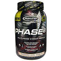 Muscletech, Серия Эффективности, Фаза8 Мультифазный 8-часовой протеин, Печенье и сливки, 2.00 фунта (907 г)