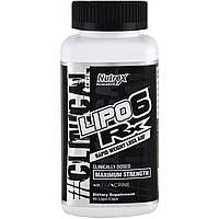 Nutrex Research Labs, Lipo-6 RX, Rapid Weight Loss Aid, Maximum Strength, 60 Liqui-Caps