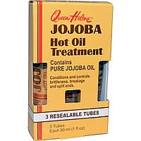 Queen Helene, Jojoba Hot Oil Treatment, 3 многоразовых тюбика, 1 жидкая унция (30 мл) шт.
