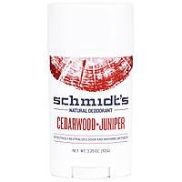 Schmidt's Natural Deodorant, Кедр + можжевельник, 3,25 унции (92 г)