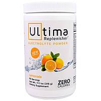 """Ultima Health Products, """"Предельный восполнитель"""", порошок электролитов со вкусом лимонада, 11,1 унции (315 г)"""