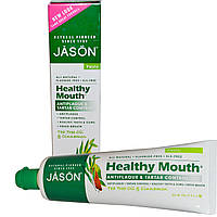 Jason Natural, Здоровье полости рта, Зубная паста, удаляющая налет и зубной камень с маслом чайного дерева и корицей, 4,2 унции (119 г)