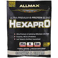 ALLMAX Nutrition, Hexapro, Ultra-Premium, 6-Protein Blend, Cookies & Cream , 1 Sample Serving, 1.55 oz (44 g)