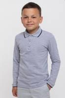 Футболка-поло с длинным рукавом на мальчика (114540-1, 114541-1), Smil