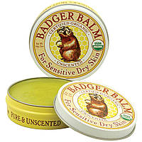 Badger Company, Бальзам Badger, для сухой и чувствительной кожи, без запаха, 2 унции (56 г)