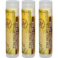 Out of Africa, Бальзам для губ с натуральным маслом ши, тропический ваниль, 3 упаковки, 4 г (0,15 унции) каждая