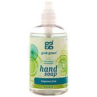 GrabGreen, Мыло для рук, без запаха, 12 унций (355 мл)