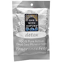 One with Nature, Dead Sea Spa, Mineral Salts, Detox, Fragrance Free , 2.5 oz (70 g)