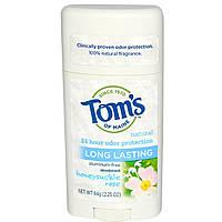 Tom's of Maine, Дезодорант без алюминия длительного действия, жимолость и роза, 2,25 унции (64 г)