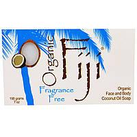 Organic Fiji, Органическое кокосовое мыло для лица и тела, без запаха, 198 г