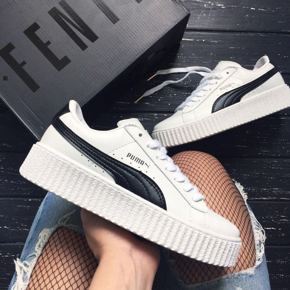 Женские кроссовки в стиле PUMA Rihanna Suede Creepers ff84922b346ce