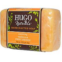 Hugo Naturals, Мыло ручной работы, ваниль и сладкий апельсин, 4 унции (113 г)