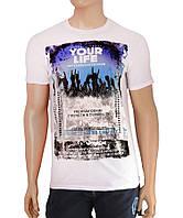 Молодежная белая футболка Your Life - №2503