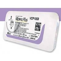Викрил Плюс (VICRYL Plus) Антибактериальный 2.0, колючая усиленная игла 40 мм, 1/2 окружности, длина 70см, фиолетовый