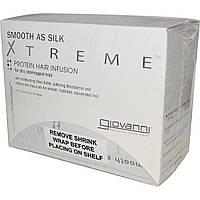 Giovanni, Мягкие как шелк Xtreme, протеиновая настойка для волос, 20 пакетиков из фольги, 32 мл каждый