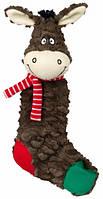 Рождественская плюшевая игрушка Trixie Ослик, Овечка носок 32см (1шт)