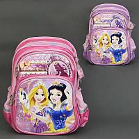 Рюкзак школьный РВ 0339 / 555-507 (16) 2 цвета, 3 отделения, 3 кармана, брелок, ортопедическая спинка