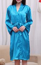 Комплект пеньюар и халатик синий, фото 3