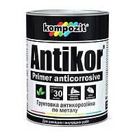 Грунтовка для металла Antikor красно-коричневая KOMPOZIT, 1 кг (4820085741935)