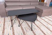 Современный дизайнерский журнальный столик Lyon b(Лион Б),венге, МДФ18мм, каркас крашенный металл