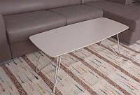Современный дизайнерский журнальный столик Lyon b(Лион Б),капучино, МДФ18мм, каркас крашенный металл