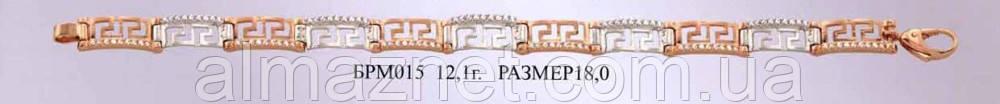 Золотой браслет Versace со вставкой из белого золота