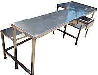 Столы производственные, столешницы по размерам заказчика из нержавейки