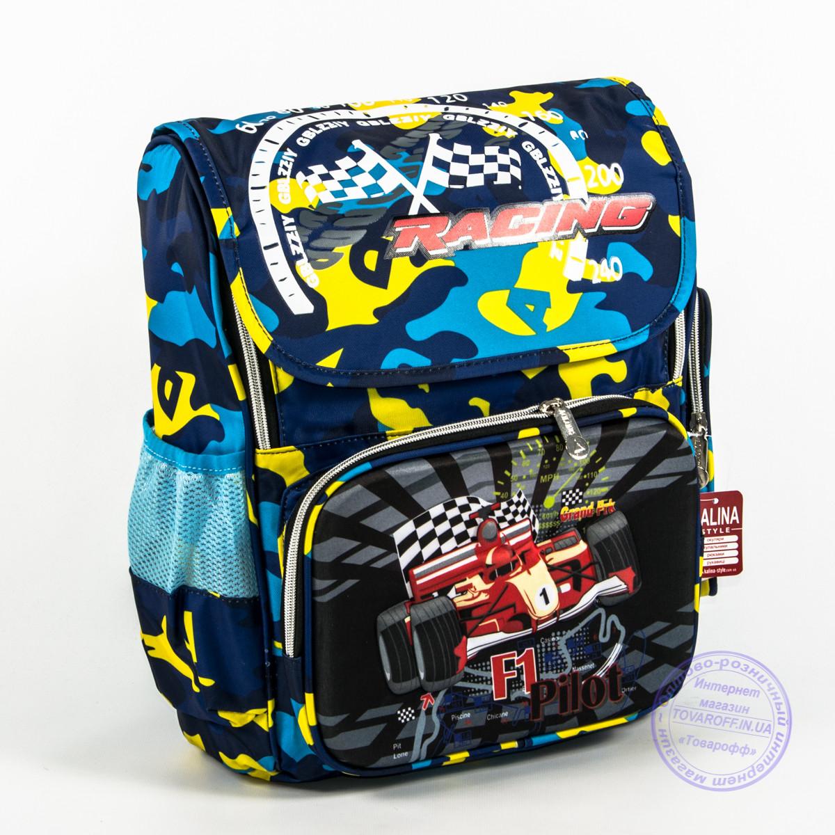 Школьный рюкзак для мальчика с жесткой спинкой и 3Д рисунком - голубой - 125