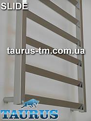 Большой высокий нержавеющий полотенцесушитель с развёрнутой перемычкой на 30 градусов - Slide 15/500 мм