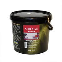 MIRAGE Silver - бархатная полу матовая декоративная штукатурка 1кг, фото 1