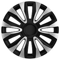 Колпаки колесные  AVALON CARBON (СЕРЕБРИСТО-ЧЕРНЫЙ) R14