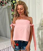 Женская кофточка завязки розовая