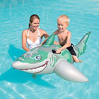 Надувная игрушка акула детская прочная хорошо держит на воде