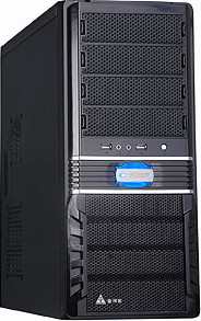 Компьютерный корпус GOLDEN FIELD 8218B, MidiTOWER ATX P490W