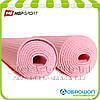 Коврик для йоги и фитнеса PVC HOP-SPORT 3мм, розовый.