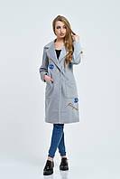 Пальто женское Мехико 42, светло-серый