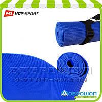 Коврик для йоги и фитнеса PVC HOP-SPORT 3мм, синий, фото 1