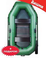 Двухместная надувная лодка Ладья ЛТ-240АС. Гребная;