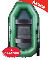 Двухместная надувная лодка Ладья ЛТ-240АСБ. Гребная;