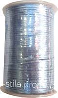Шнур атласный голубой (3мм толщ) 100м в рул