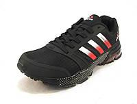 Кроссовки мужские  Adidas Cosmic Maraton Air черно-красные (р.41,42,43,44,45,46)