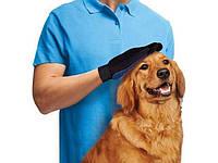 Щетка перчатка для вычесывания шерсти домашних животных