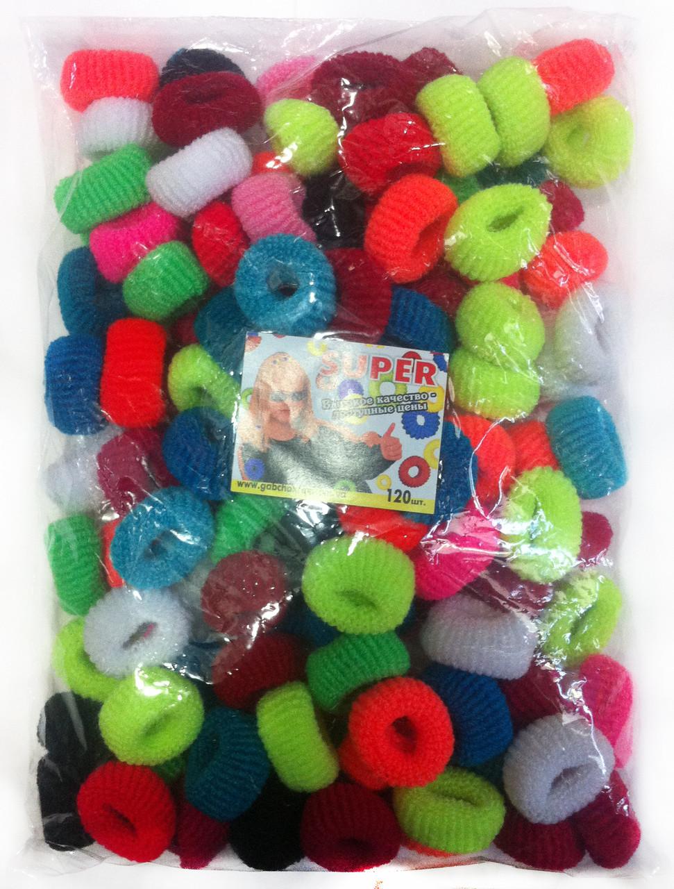 Резинки для волос цветные 120 шт., (22 мм)