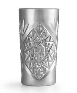 Стакан для напитков 470 мл. высокий, стеклянный серебряный Hobstar Silver, Libbey