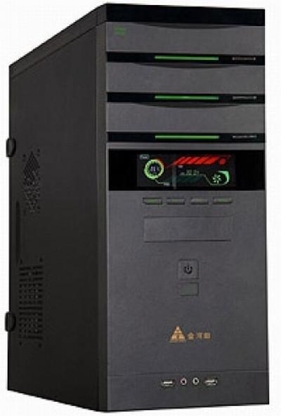 Компьютерный корпус GOLDEN FIELD 7627B, MidiTOWER ATX P500W