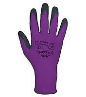 Рабочие перчатки нейлоновые с латексным покрытием неполный облив Doloni 4151
