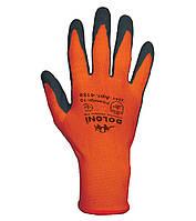 Рабочие перчатки нейлоновые с латексным покрытием неполный облив Doloni 4159
