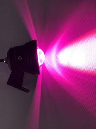 Светодиодный линзованный фитопрожектор SL-10-12F 10W 12V IP65 черный (full spectrum led) Код.58943, фото 2